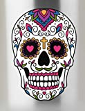 Sugar Skull Dios De Los Muertos Full Color Vinyl Decal - Sized for Stainless Steel Tumbler