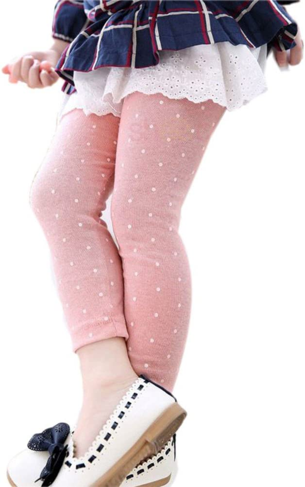 Soly Tech Baby Girls Polka Dot Ankle Length Basic Leggings Skinny Stretchy Pants