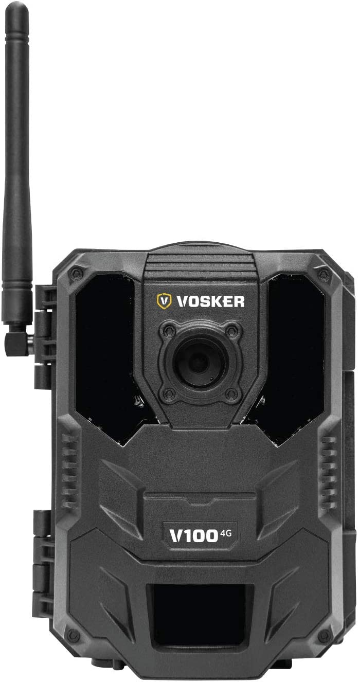Vosker V100 4G Outdoor Security Camera Wireless Weatherproof Protection No Wi-Fi Required Battery Operated Day and Night Vision Surveillance Camera Free Data Plan Available
