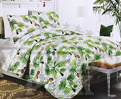 Western Peak 3 Piece Coastal Beach Tropical Ocean Aqua Coral Starfish Sea Shell Quilt Set (Palm King)