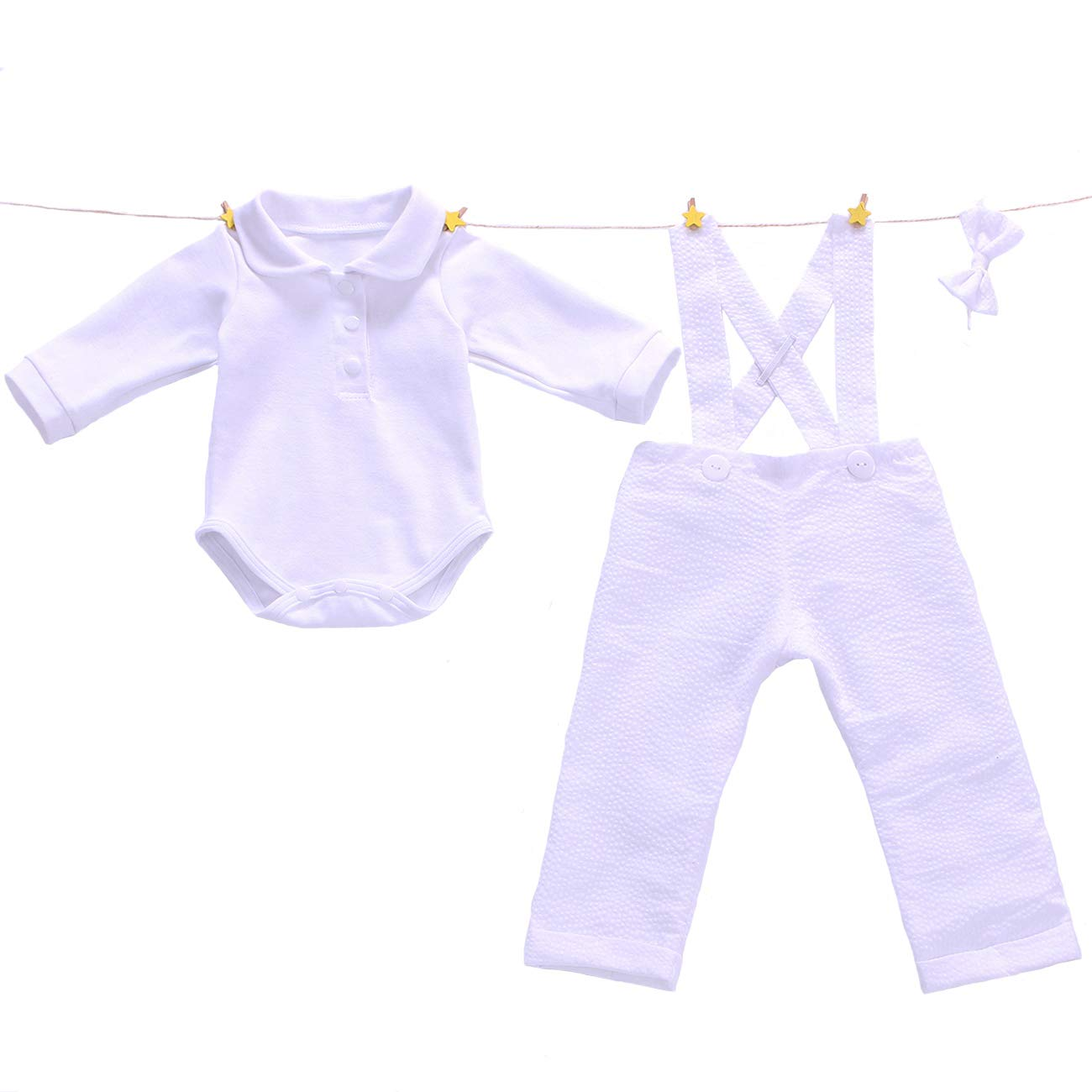 Euro Bear Lovely White Suit for Baby Boy Christening Outfit