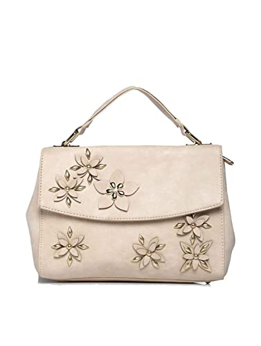 Addons Floral Motifs Top Handle Satchel bag