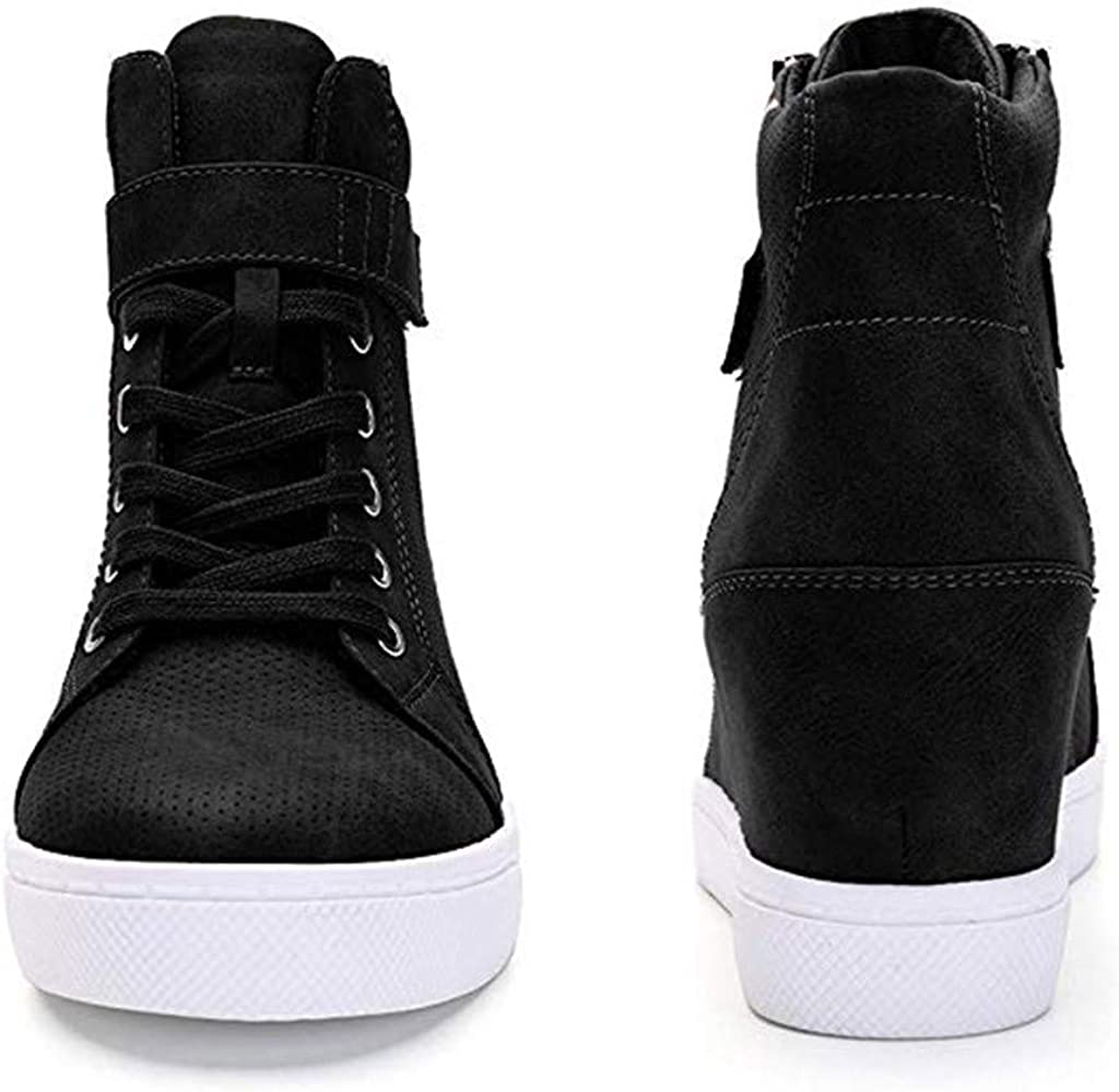 Zapatillas para Mujer Otoño Invierno JORICH Zapatillas de Plataforma Cuña Deportivo para Mujer Zapatilla Mujer Fondo Grueso Shoes Zapatos De Plataforma (Negro, EU:39.5 25.5cm/10