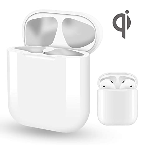 huge discount da304 bec11 Wireless Charging Case Replacement for Airpods, Blandstrs Air pod Charger  Supply 5 Times Charging, QI Efficient Charging and Protect Earphones - NO  ...