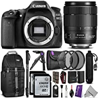 Canon EOS 80D DSLR Camera with EF-S 18-135mm f/3.5-5.6 IS USM Lens w/ Advanced Photo and Travel Bundle At A Glance Review Image
