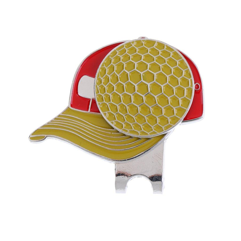 MagiDeal Clip de Gorra de Golf de Aleación de Marcador de Bola Magnética Accesorio de Tapa de Correa de Zapatos 4 Colores