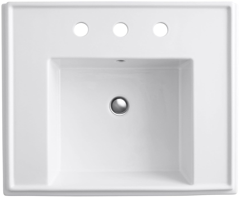 Exceptional KOHLER K 2757 8 G9 Tresham 24 Inch Pedestal Bathroom Sink Basin With 8 Inch  Widespread Faucet Drilling, Sandbar   Pedestal Sinks   Amazon.com