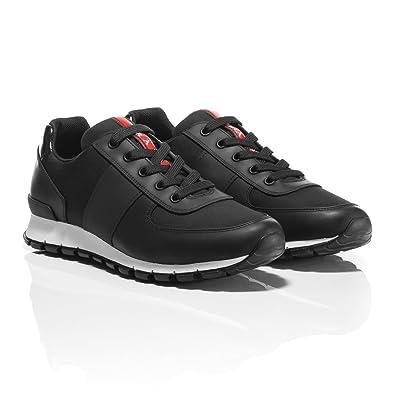 9669963809510 Prada Herren Sneaker Schwarz Schwarz