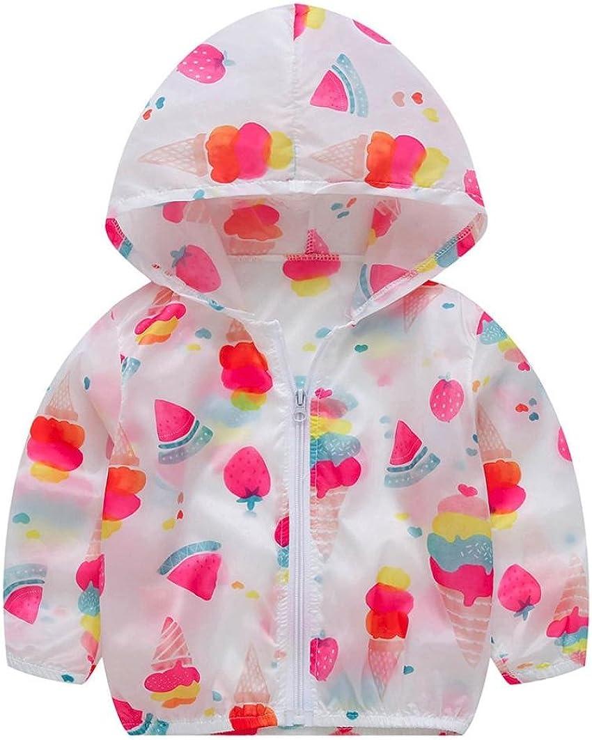 Winsummer Unisex Kids UV//Sun Protection Zipper Hoodie Coat Lightweight Ultrathin Windbreaker Jacket for Travel Beach