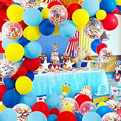 Circus Party Supplies Balloons Arch Kit - 10 Pack Latex Balloons