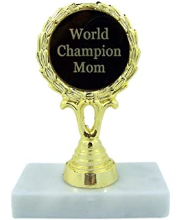 World Champion Mom Trophy Statue Award Gift 5 1 4 Inch