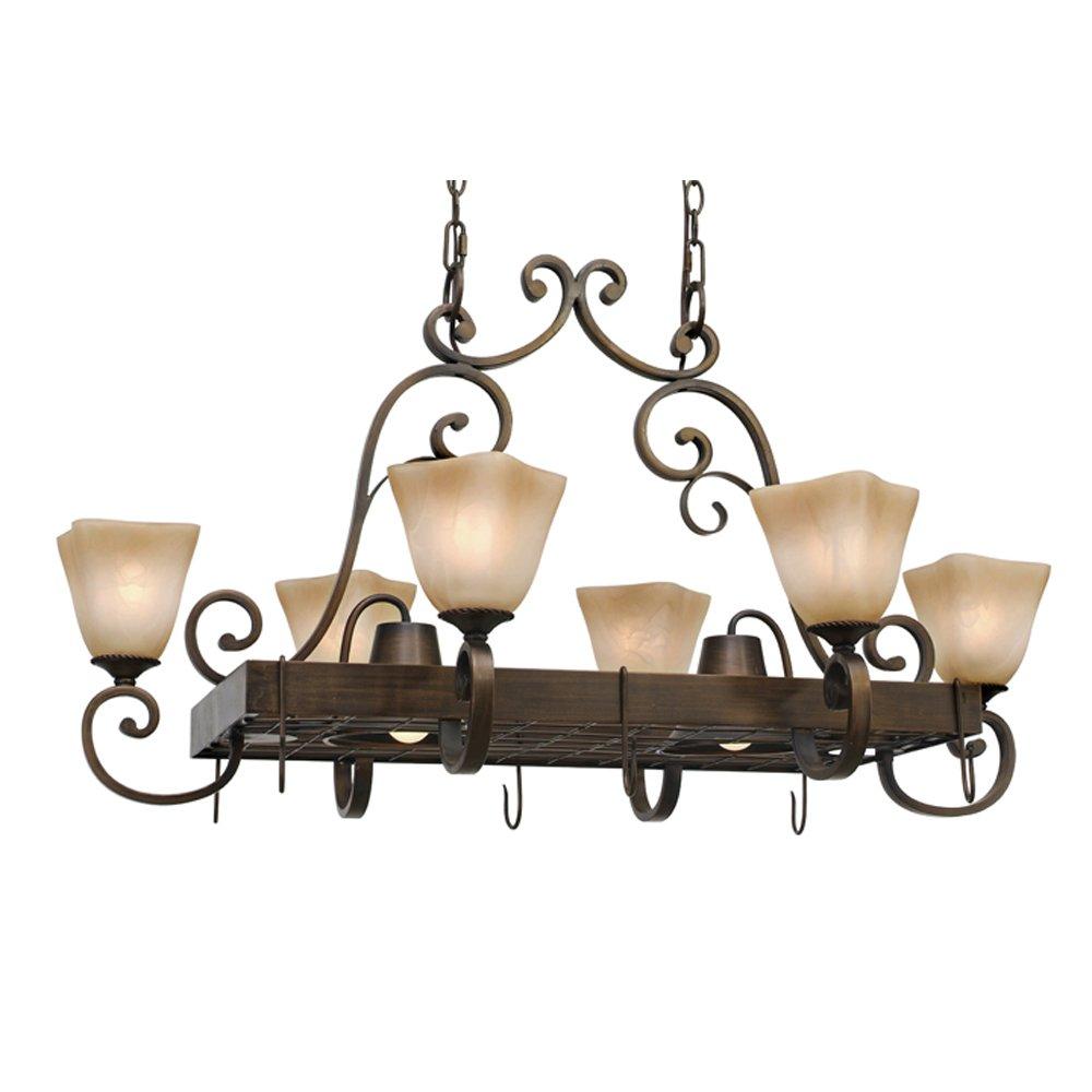 Amazon.com: Golden Lighting 3890 PR62 GB Meridian Eight Light Pot Rack,  Golden Bronze Finish: Home Improvement