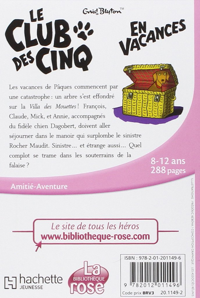 Le club des cinq en vacances french edition enid blyton le club des cinq en vacances french edition enid blyton 9782012011496 amazon books fandeluxe Gallery