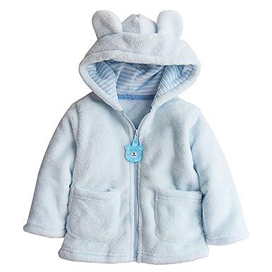 0411d6e12 Amazon.com  Toddler Baby Boys Girls Cartoon Fleece Hooded Jacket ...