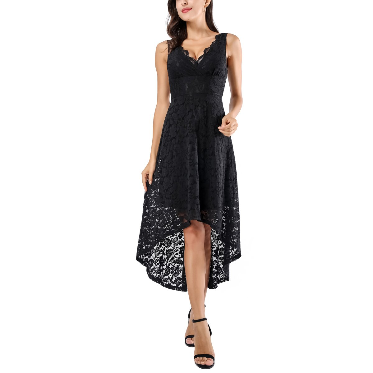 08d3c00c67 Top 10 wholesale Black And White Lace High Low Dress - Chinabrands.com