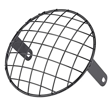 Shiwaki R/étro Vintage Vintage Motorcycle Headlight Headlight Old Square Net Cover