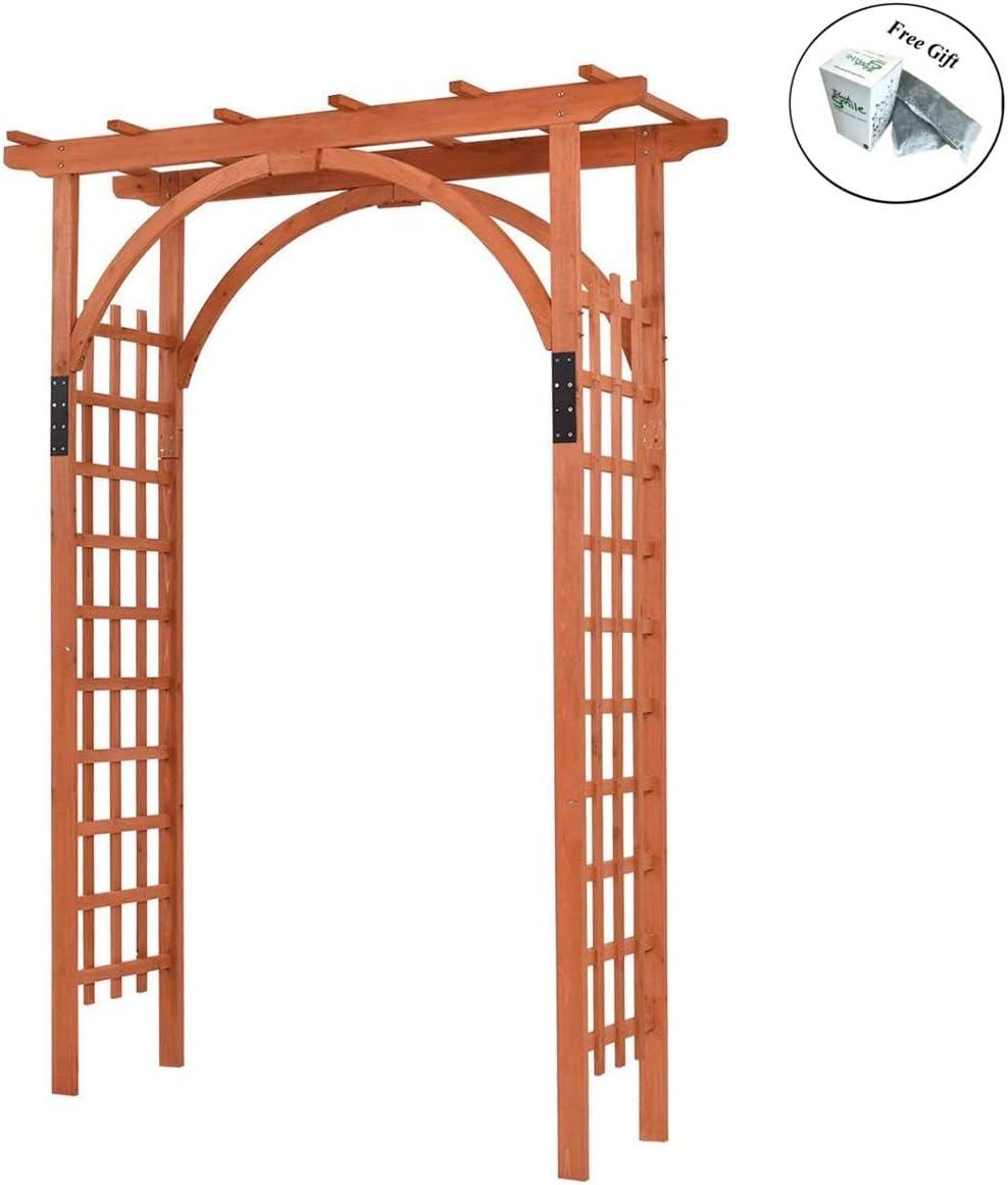 Eight24hours Premium al aire libre de madera de cedro Arbor arco ...