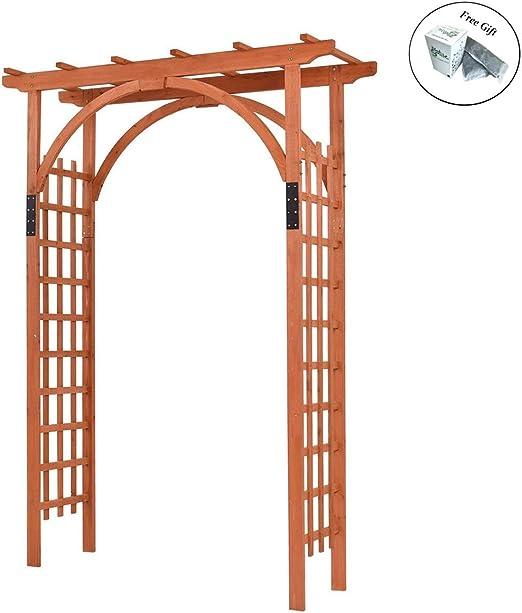 Eight24hours Premium al aire libre de madera de cedro Arbor arco pergola madera enrejado jardín Patio Entramado + libre e – libro: Amazon.es: Jardín
