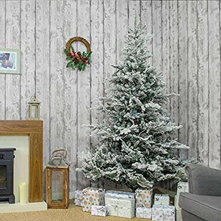 The Winter Workshop - 6ft / 180cm Snowy Calgary Fir Artificial Christmas  Tree - PVC and - The Winter Workshop - 6ft / 180cm Snowy Calgary Fir Artificial