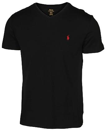 Polo Ralph Lauren Tee-Shirt col V pour Homme  Amazon.fr  Vêtements ... 33d81b07247