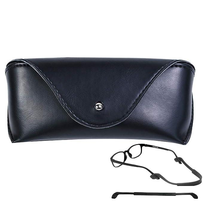 Amazon.com: CoxFox - Funda de piel sintética para gafas de ...