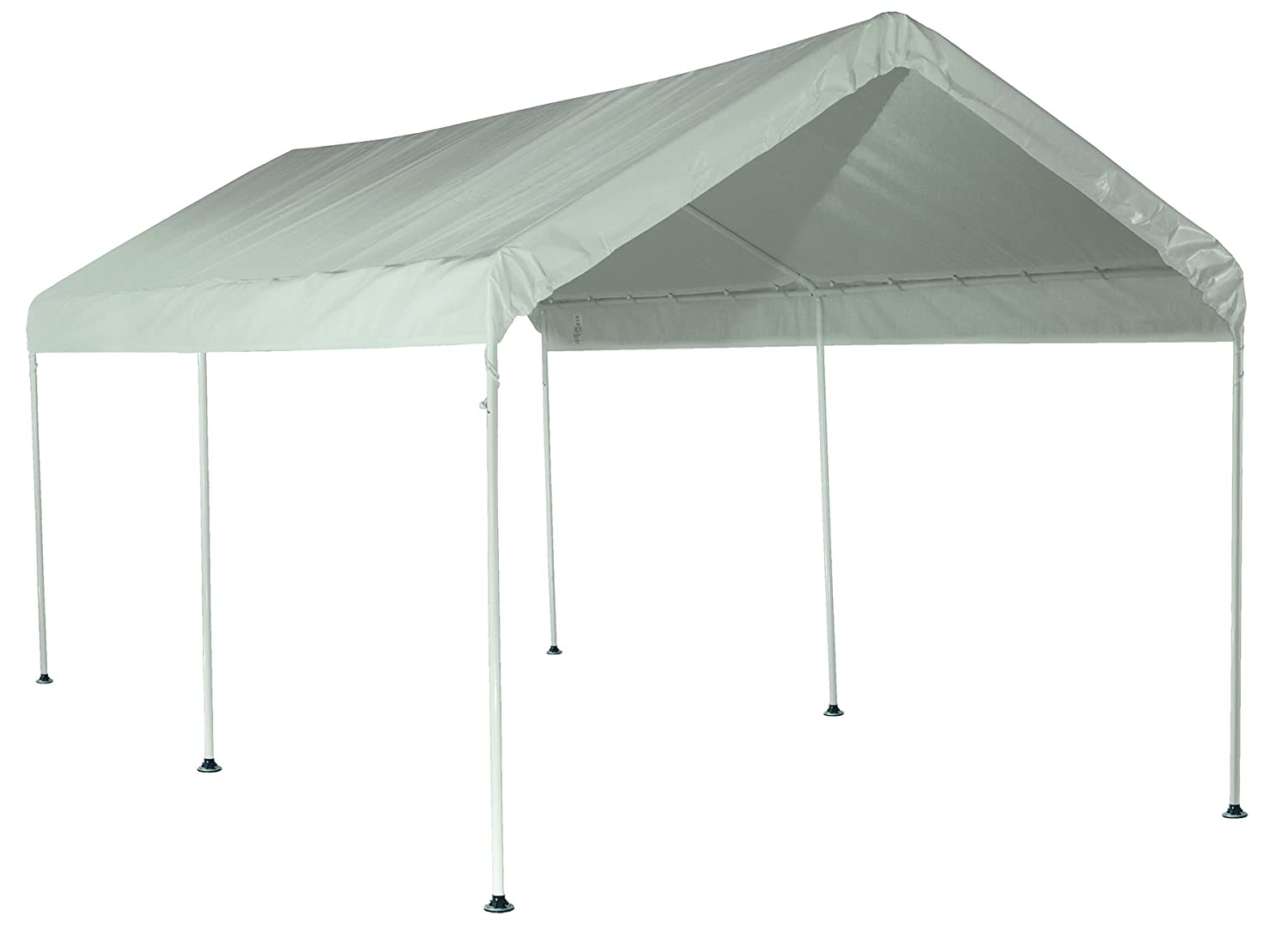 Amazon.com : ShelterLogic MaxAP Canopy, 10 x 20-ft, 6 Legs, White ...