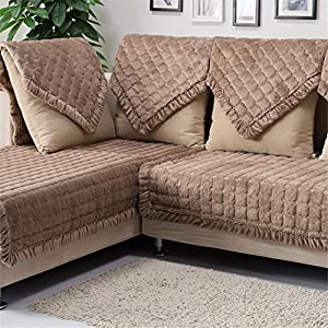 OstepDecor Multi-Size Pet Dog Couch Rectangular Soft Quilted Furniture Protectors Covers for Sofa, Loveseat   ONE Piece   Backing and Armrest Sold Separately