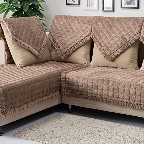 (OstepDecor Multi-Size Pet Dog Couch Rectangular Soft Quilted Furniture Protectors Covers for Sofa, Loveseat | ONE Piece | Backing and Armrest Sold Separately | Coffee 43