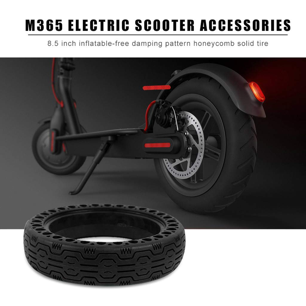 CreazyBee Electric Scooter Replacement Wheels Solid Never Flat Tires Compatible with Xiaomi M365,Compatible with GOTRAX GXL V2 or Similar E-Scooter Models (1 Tires) (Black) by CreazyBee