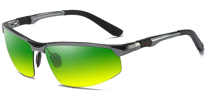 LZXC día y la noche polarizada gafas de sol deportivas hombres gafas de conducción al aire