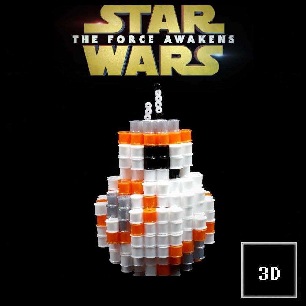 Figuras 3D de Pixel Art hama hechas a mano modelo BB 8 Star wars ...