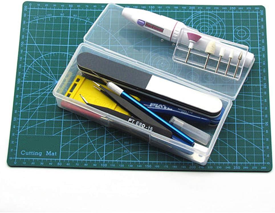 Gundam Juguetes Modelo Gadgets BENECREAT 5 Pack Caja de Pl/ástico Caja de Herrmamientas Contenedor Transparente de Almacenamiento con Ventilaci/ón para Papeler/ía