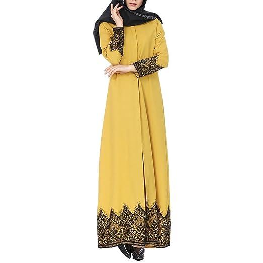 DEELIN Ajuste del CordóN De La Mujer Musulmana Abaya MusulmáN Maxi Kaftan Vestido del Kimono: Amazon.es: Ropa y accesorios