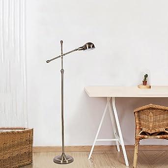 Suerte Piedra Retro - Lámpara de pie, altura regulable/Vintage ...