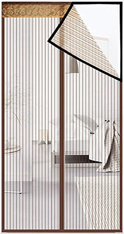 Puerta De Pantalla Magnética,Cortinas Para Puertas De Malla,Puertas Correderas,Garaje,Pesca En Barco-super Tranquilo,Manos Libres-deje Aire Fresco En-marrón 230x250cm(91x98inch)230x250cm(91x98inch): Amazon.es: Hogar