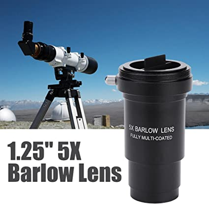 Fully Multi-Coated Metal with M42x0.75mm Thread Interface for Astronomical Telescope Eyepieces Diyeeni Barlow Lens 3X 1.25 Inch