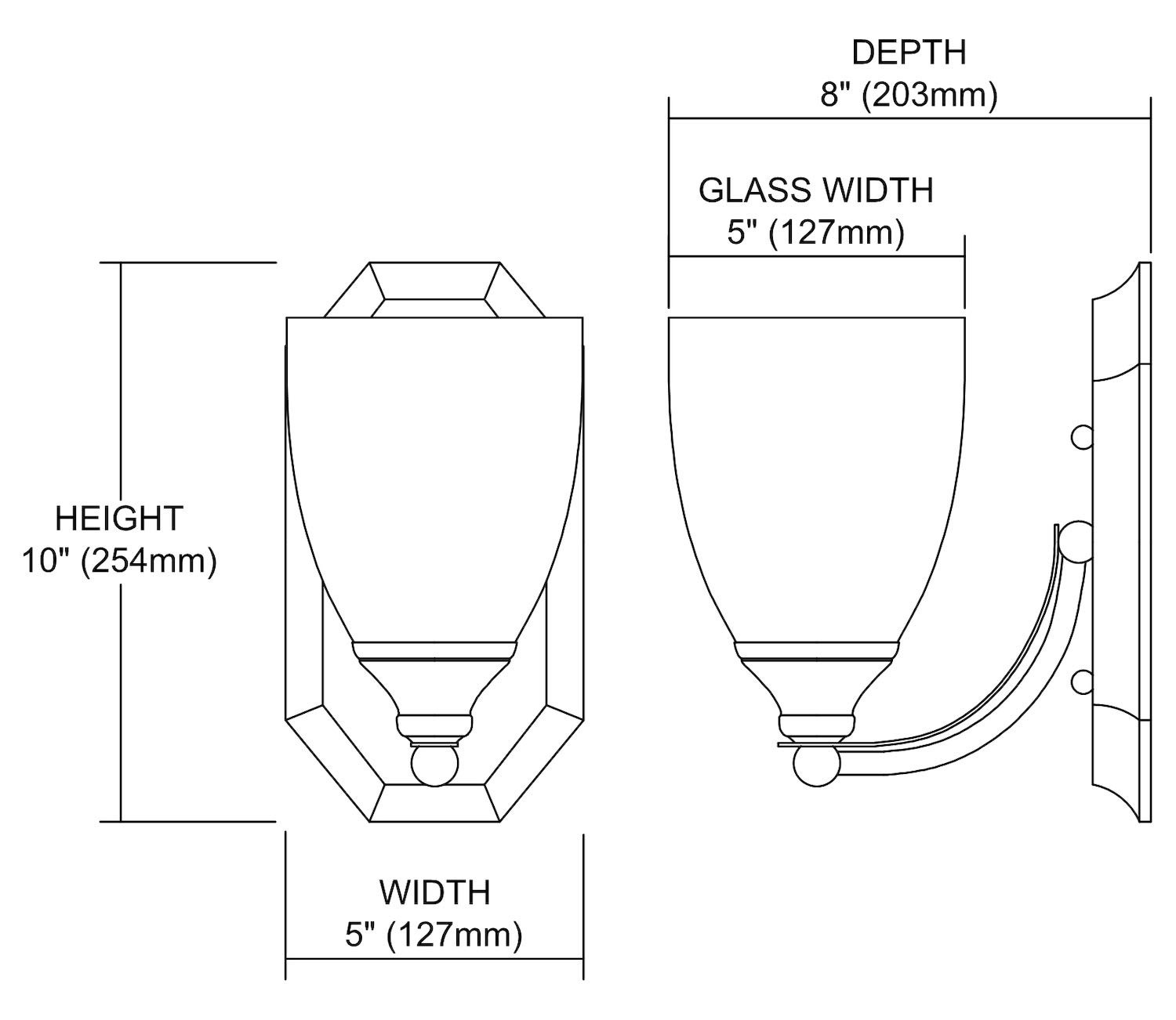 Bath and Spa 1 Light Vanity in Satin Nickel and Mountain Glass