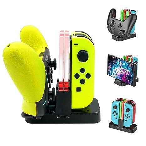 Estación de Carga para mandos Joy-Con y Pro de Nintendo ...