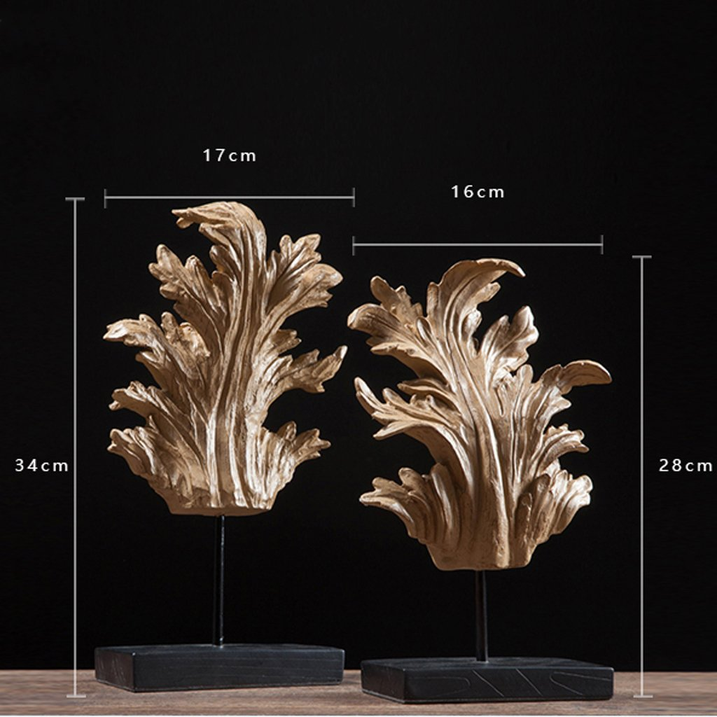North America Resin Leaves Home Decoration Wine cabinet decorations indoor living room coffee table TV cabinet office desk Wedding Gifts by MYH-US (Image #4)