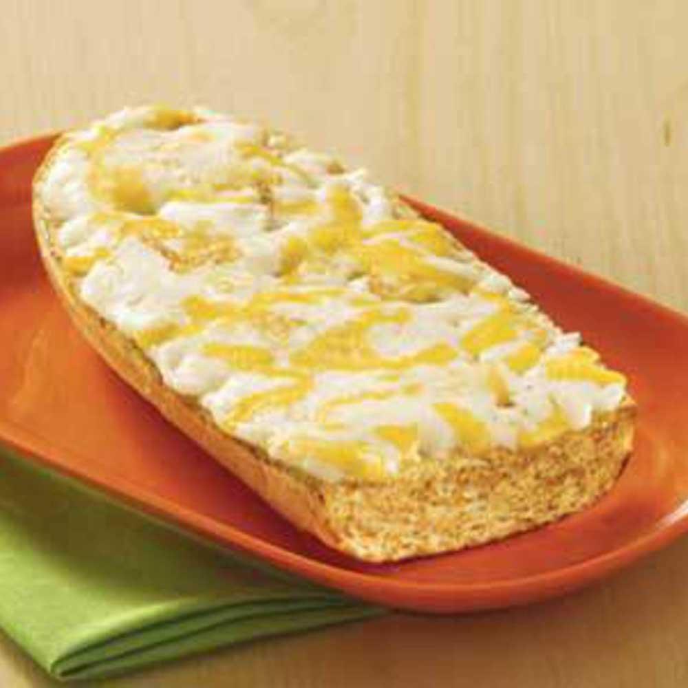 Tonys French Bread Whole Grain Multi Cheese Garlic Pizza, 6 inch -- 60 per case.