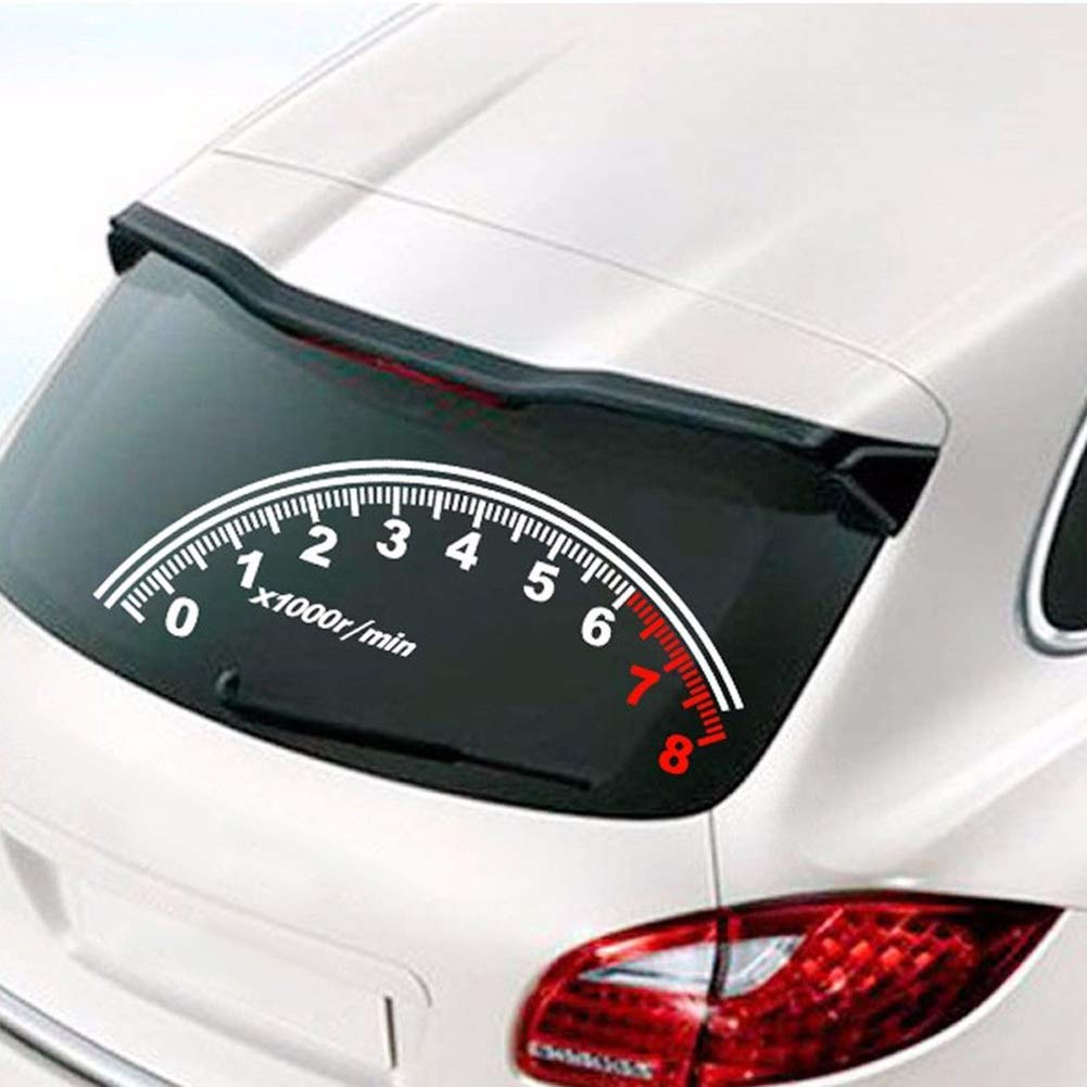 Amazon com fashion reflective car sticker rear windshield speedometer decor graphics decal computers accessories