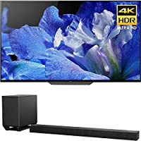 """Sony Bravia XBR65A8F 65"""" 4K HDR10 HLG Dolby Vision Triluminos OLED TV 3840x2160 & Sony HTST5000 7.1.2Ch 4K HDR Compatible 800W Dolby Atmos Soundbar"""