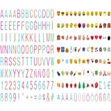 208 color thin font letters ~number ~symbols and emojis for your A4 cinematic lightbox
