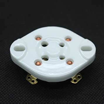 1pc U4A Base Tube Ceramic Socket fit for 300B 572B 811A Gold