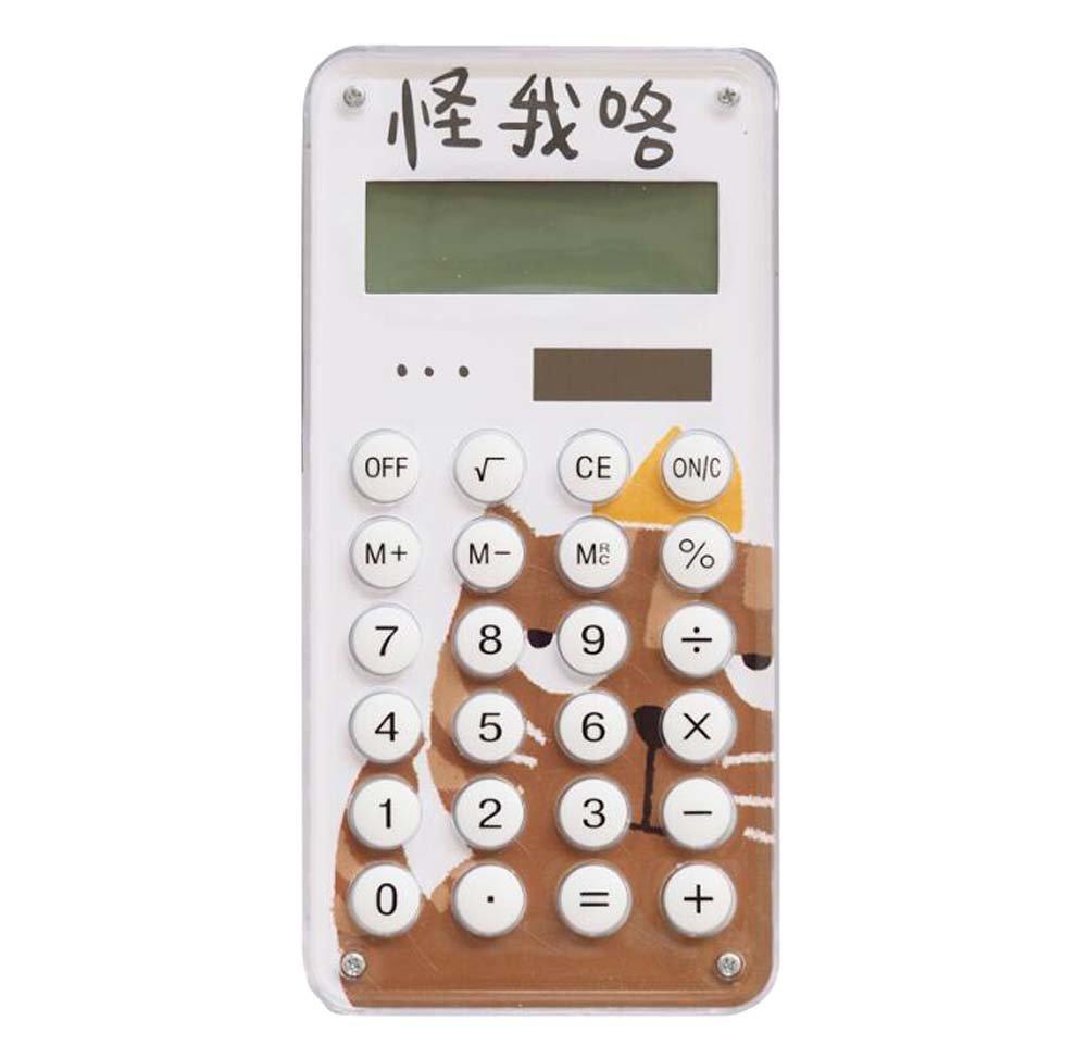 Slim Cartoon Eco-friendly Solar Portable 8-digit Display Calculator-D1