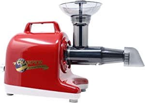 Champion Professional 5000 Dual Auger Variable Speed Masticating Juicer - Cherry Red
