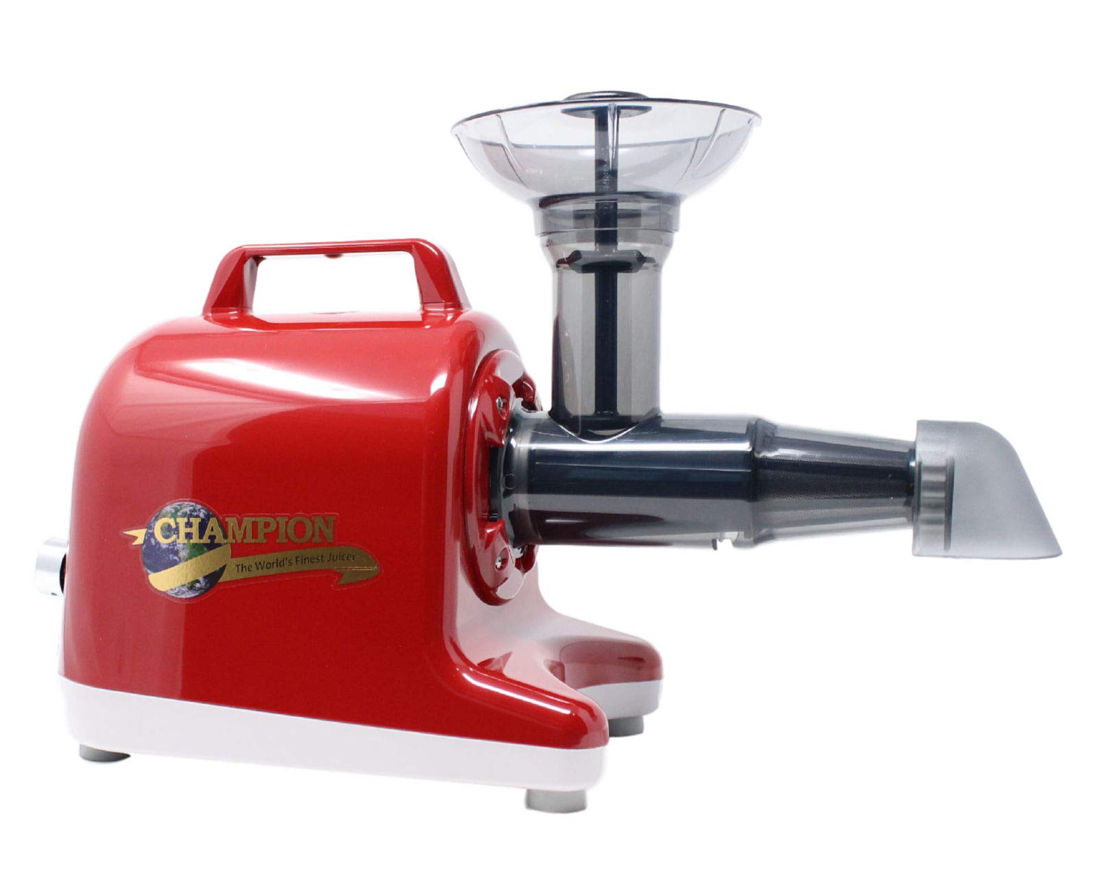 Champion Professional 5000 Dual Auger Variable Speed Masticating Juicer - Cherry Red by Champion Juicer