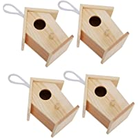 Hanging Bird House, Beautiful Wooden Birdhouse, for Rest Playing Birds Parrot