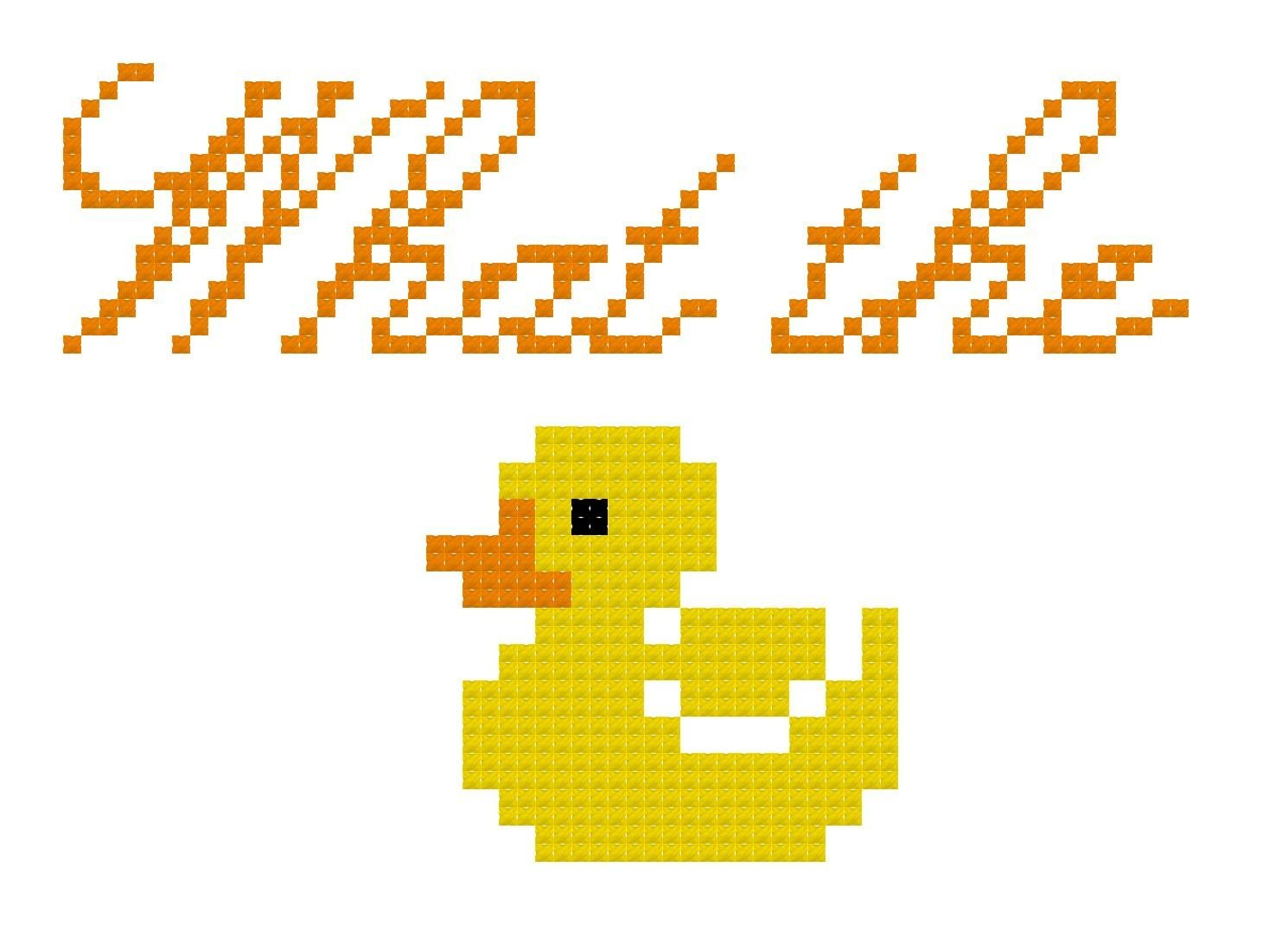 Counted Cross Stitch Pattern. What the duck