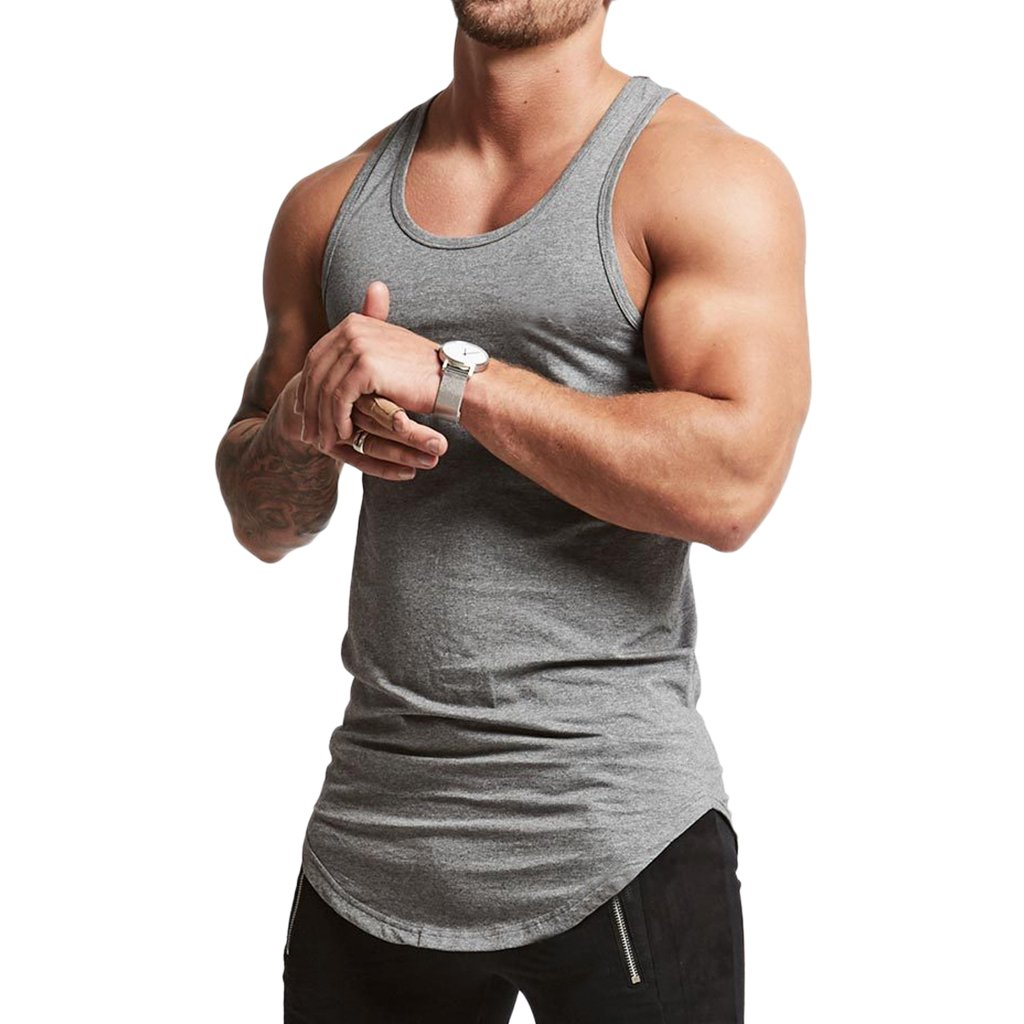 Magiftbox Mens Essential Workout Stringer Cotton Gym Tank Tops